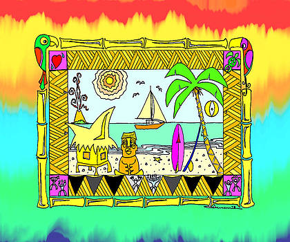 Beach Hut Paradise by Aaron Bodtcher