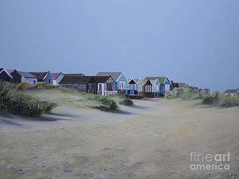 Beach Huts and Dunes by Linda Monk