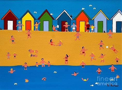 Beach huts by Gordon  Barker
