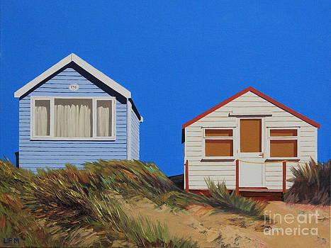 Beach Huts in Mudeford by Linda Monk
