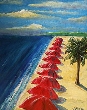 Beach Line Up by Dyanne Parker