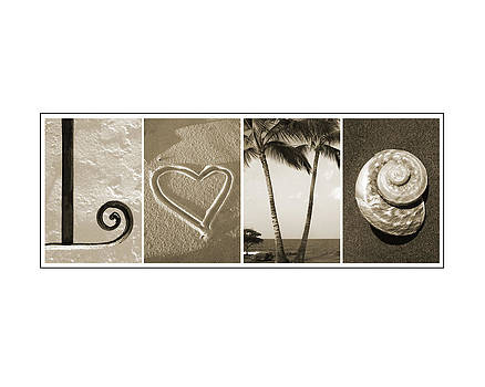 Kathy Stanczak - Beach Love Alphabet Art