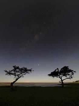 Beach Night Moonlight Milky Way Venus Sunrise by Alfredo Rougouski