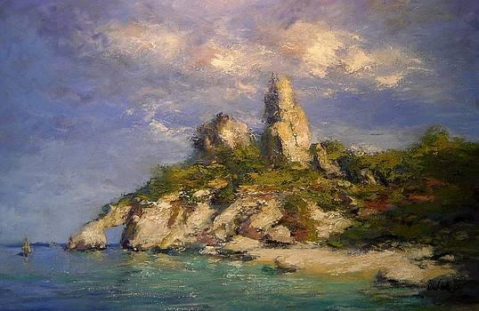 Beach on Sardinia by R W Goetting