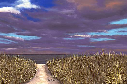 Beach Path by George Burr