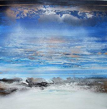 Beach Rhythms and Textures Blue 3 by Mike   Bell