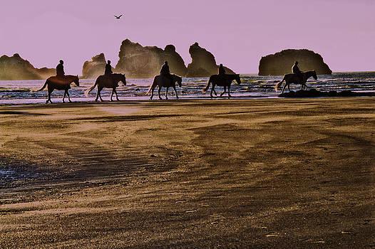 Beach Ride by Jeanne Hoadley