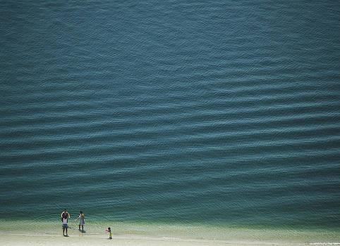 Beach Scene - Four people On Beach by Andy Mars
