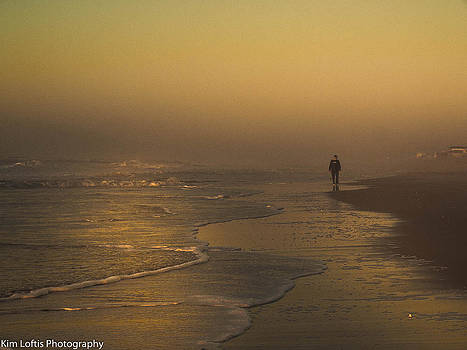 Beach solitude  by Kim Loftis