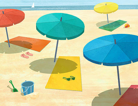Beach Umbrellas by Megan Hartfelder