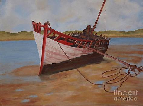 Beached Boat by Marie Lewis