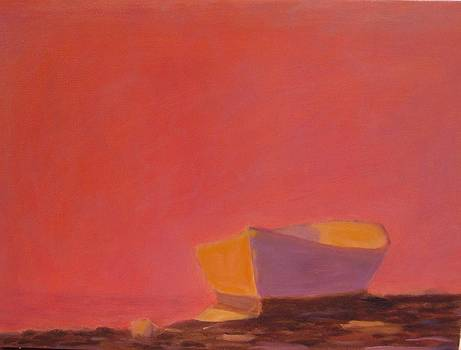 Beached Dory at Sunset by Molly Fisk