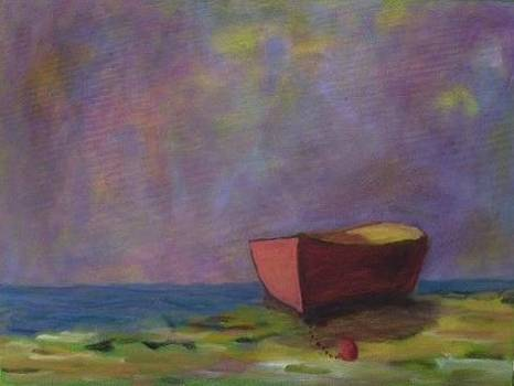 Beached Under Purple Sky by Molly Fisk