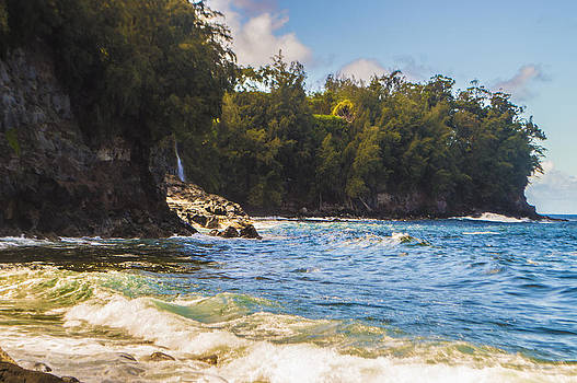Beaches Waves and Waterfalls in Paradise by Brandon McClintock