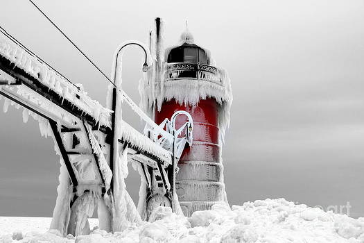 Beacon Of Light South Haven Michigan by Jack  Martin