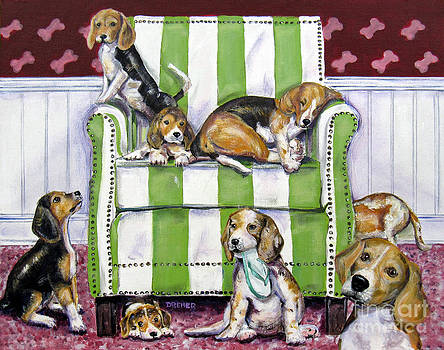 Beagle Mania by Chris Dreher