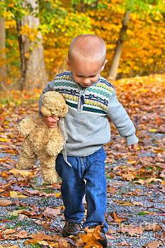 Bear and Boy by Jay Nodianos