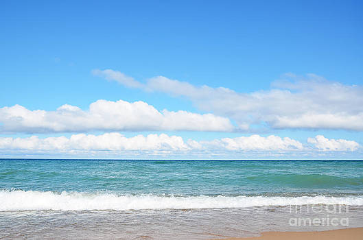 Beatiful summer beach shore  by Susan Montgomery