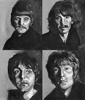 beatles Black n Whaite by Charles  Bickel