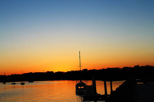 Beaufort Sunset with Jet Stream by Ella Char