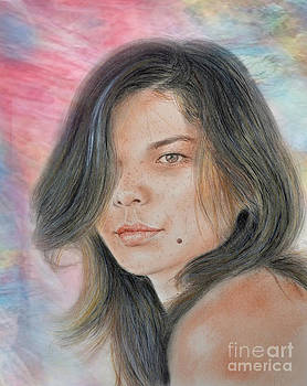 Beautiful and Sexy Actress Jeananne Goossen IV Altered Version by Jim Fitzpatrick