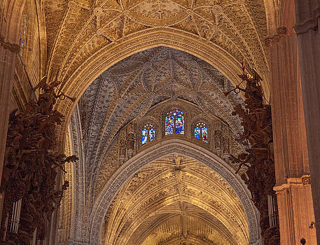 Beautiful Arches of Seville Cathedral by Viacheslav Savitskiy