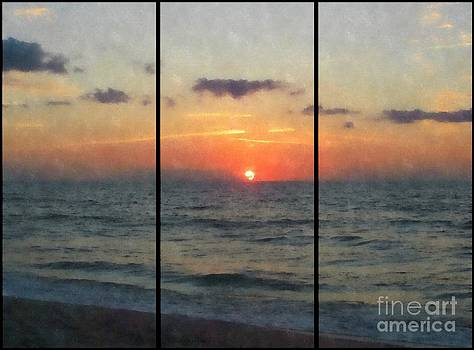 Beautiful Beach Sunrise by Jaclyn Hughes Fine Art