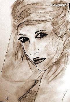 Beautiful Lady by Farfallina Art -Gabriela Dinca-