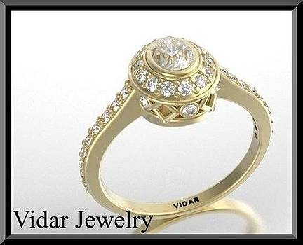 Beautiful Oval Diamond 14k Yellow Gold Engagement Ring by Roi Avidar