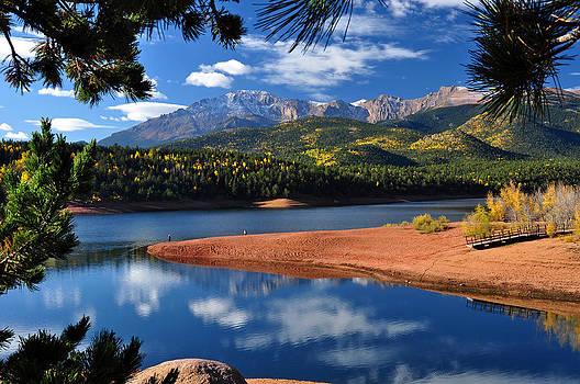 Beautiful Pikes Peak at Crystal  by John Hoffman