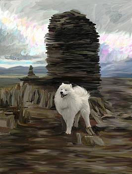 Beautiful Samoyed Dog by Angela Stanton