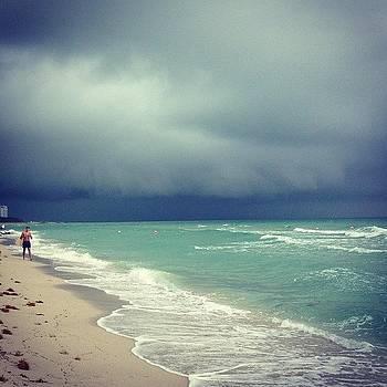 Beautiful Storm On South Beach by Derek Kaplan