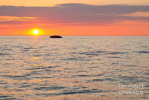 Beautiful Sunset Over Lake Erie by Sharon Dominick