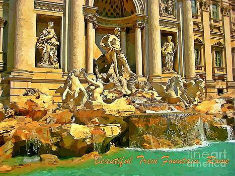 John Malone Halifax Graphic Artist - Beautiful Trevi Fountain Graphic Poster