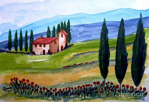 Beautiful Tuscany by Christine Huwer