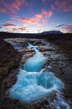 Beautiful waterfall by Arnar B Gudjonsson