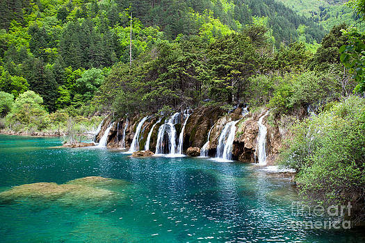 Fototrav Print - Beautiful waterfall at Jiuzhaigou China