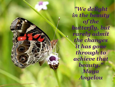Beauty of the Butterfly by April Wietrecki Green