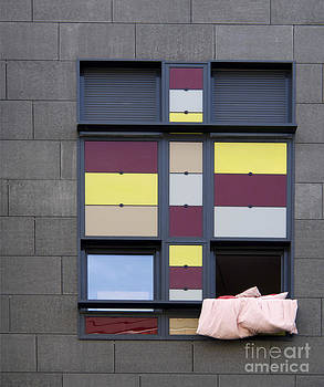 BERNARD JAUBERT - Bed sheet in a building window.