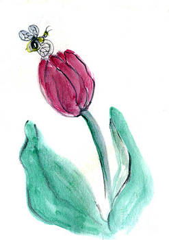 Ellen Miffitt - Bee and Red Tulip