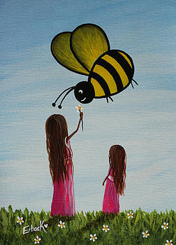 Bee Happy Original Artwork by Shawna Erback