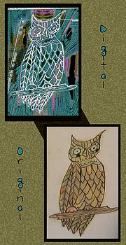 Before and after owl by Melissa Osborne