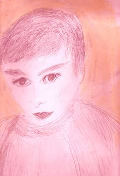 Anne-Elizabeth Whiteway - Beginning Sketch of Audrey Hepburn