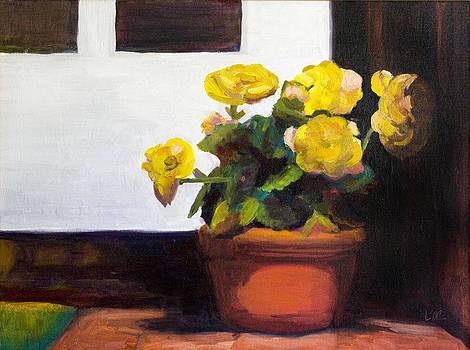 Begonias by the Door by Linda Rosso