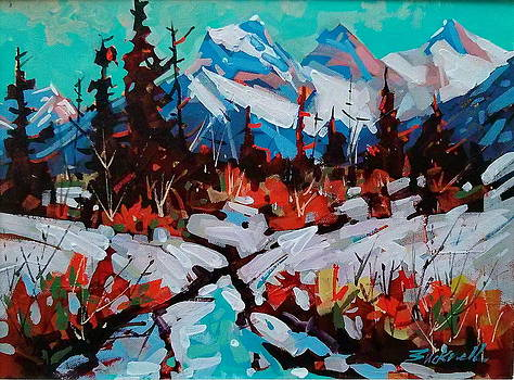Behind Canmore by Brian Buckrell