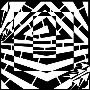Behold the Square Maze  by Yonatan Frimer Maze Artist