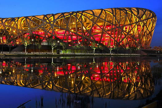 Beijing National Stadium Reflection by Donald Chen