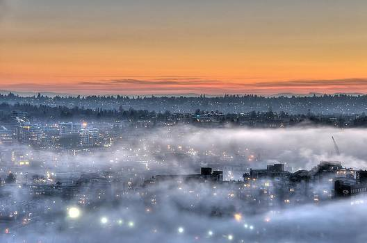 Bejeweled Foggy Sunset by Doug Farmer