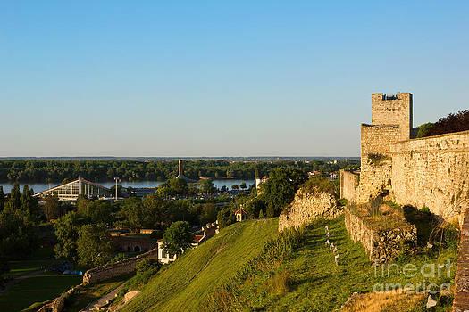 Belgrade panoramic view toward Danube river by Kiril Stanchev