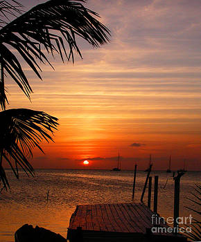 Belize Sunset I by Shelly Leitheiser